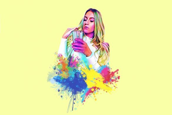 How To Use Picsart To Make Your New Watercolor Splash Profile