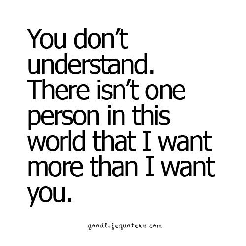 I Don T Think You Will Ever Understand Because My Love Want And