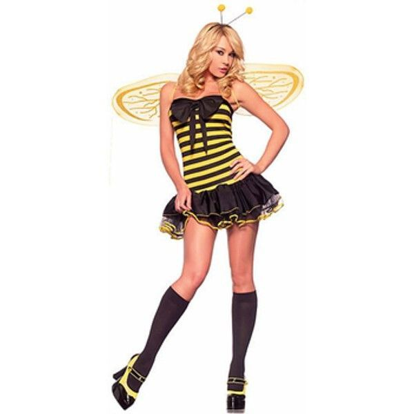 Adult Sexy Bumble Bee Costume Bumble bees and Costumes - black skirt halloween costume ideas