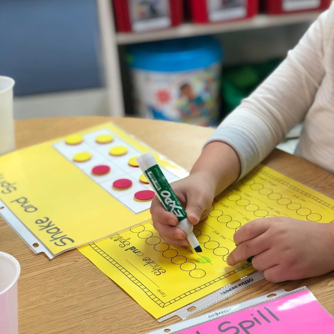 Shake And Spill In Pre K Composing Numbers Ten Frame