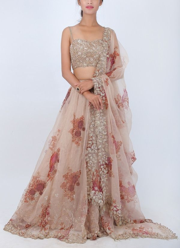 Floral Organza Lehenga #indiandesignerwear