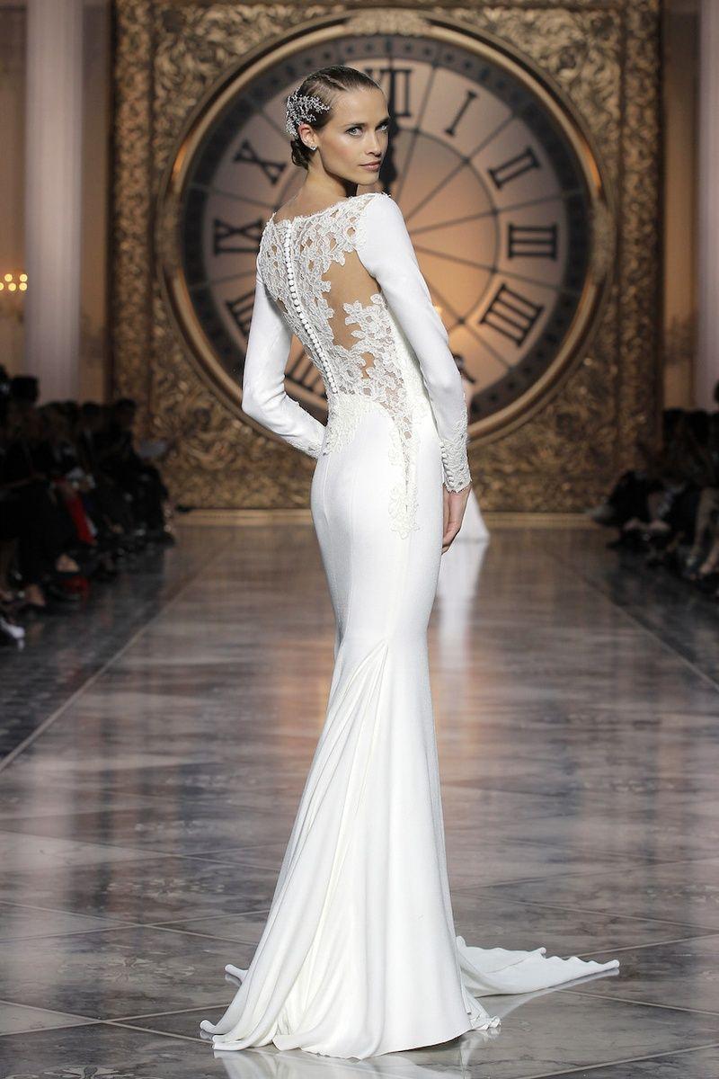 Gorgeous Wedding Dresses With Striking Illusion Details