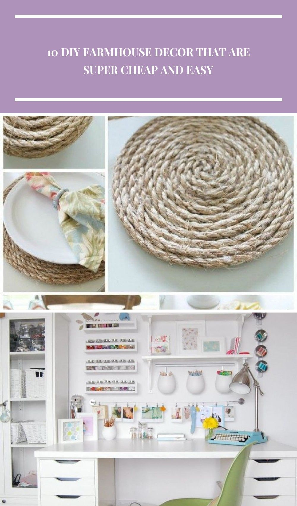 Super Easy And Cheap Diy Farmhouse Decor Ideas For Your Home Pottery Barn Inspired Round Jute Placemats And Others Pottery Barn Inspired Cheap Diy Home Decor