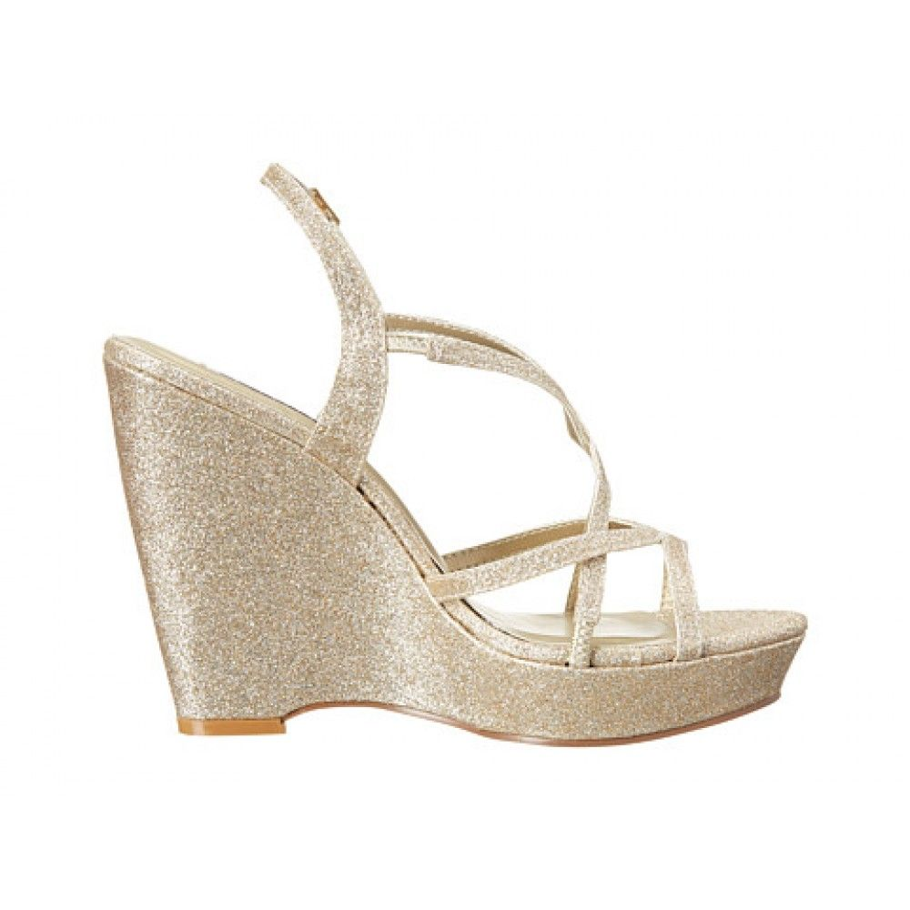 Dee By Dyeables in Gold http://www.bellissimabridalshoes.com/wedding ...