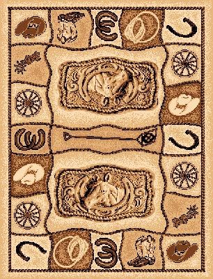 All About Cowboys Area Rug Western Area Rugs Southwestern Rug Western Rugs