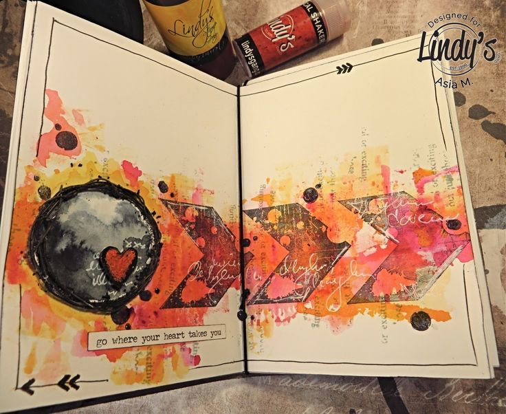 Applying Lindy's with a Brayer- Art Journal with Asia