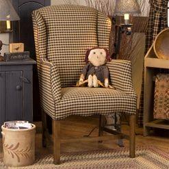 colonial wingback sofas bonbon trading smart sofa convertible bunk bed petite chair early american and primitive furnitu