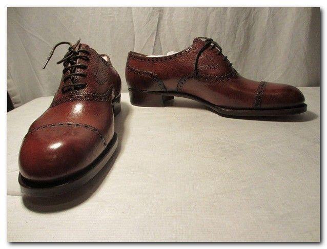 Burgundy Calf Leather Half Brogue Shoes New & Lingwood j5JtJ