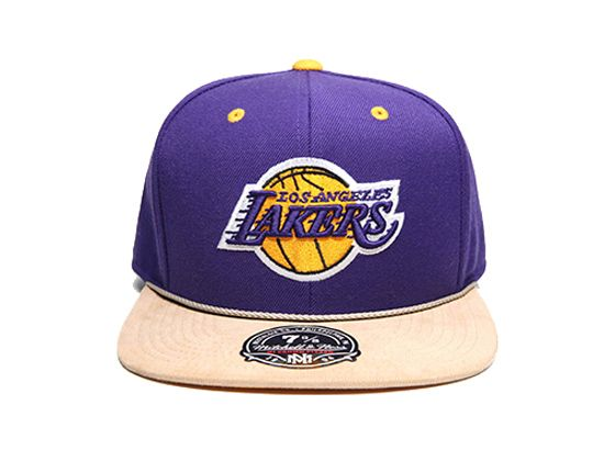 Los Angeles Lakers Cord Visor Fitted Cap by MITCHELL & NESS x NBA