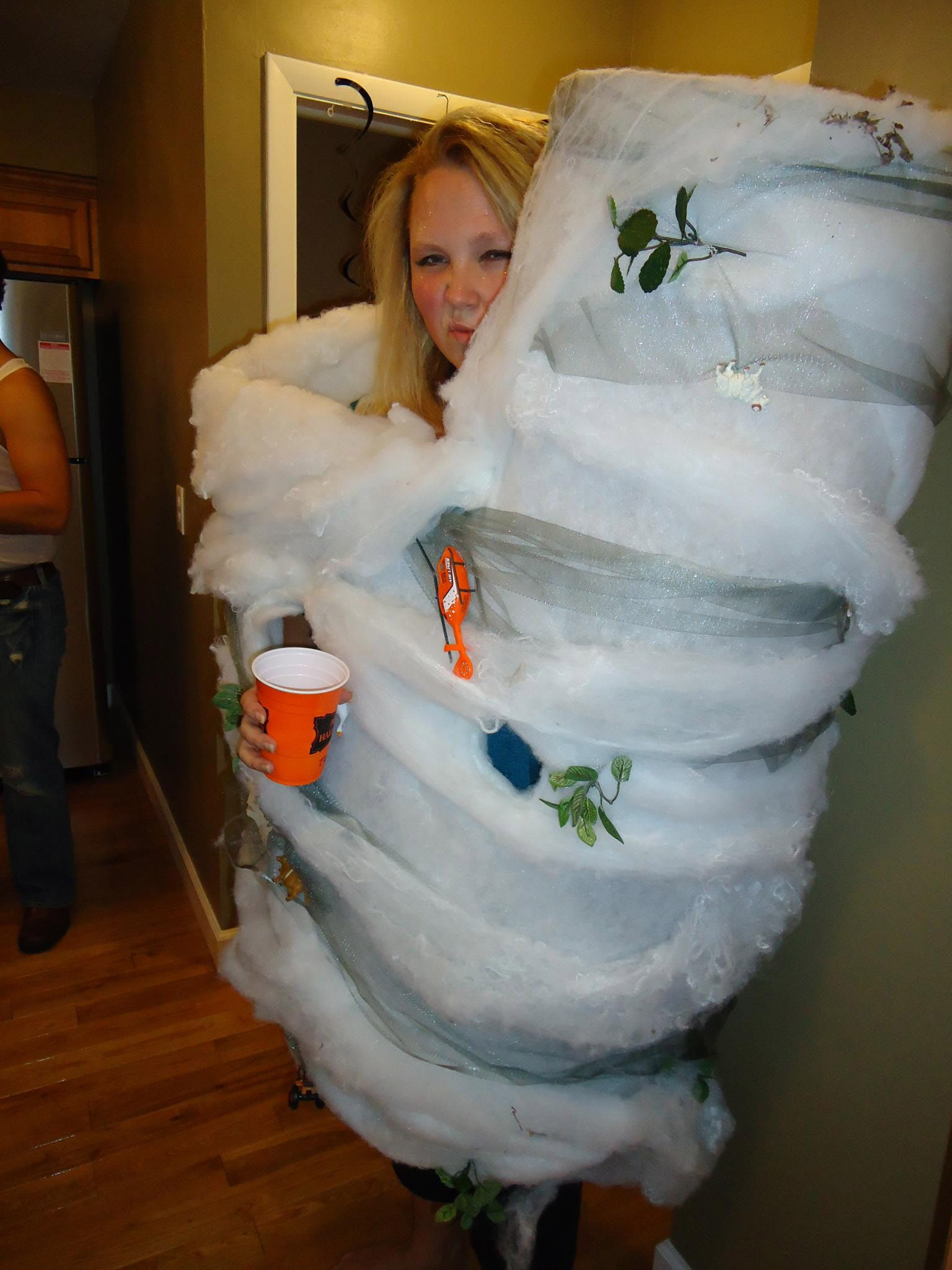 make your own tornado costume | halloween costume ideas | pinterest