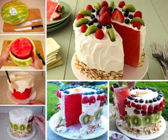 Watermelon Cake Recipe No Bake Easy To Make Video Watermelon cake