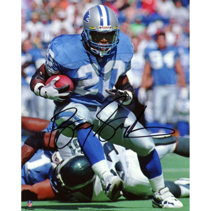 aaf2734da Barry Sanders Detroit Lions Fanatics Authentic Autographed 8   x 10   Blue  Jersey Vertical Photograph