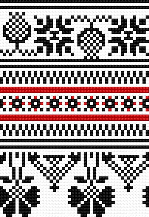 Traditional pattern from Opoczno (Polish city) (folk, polish ...
