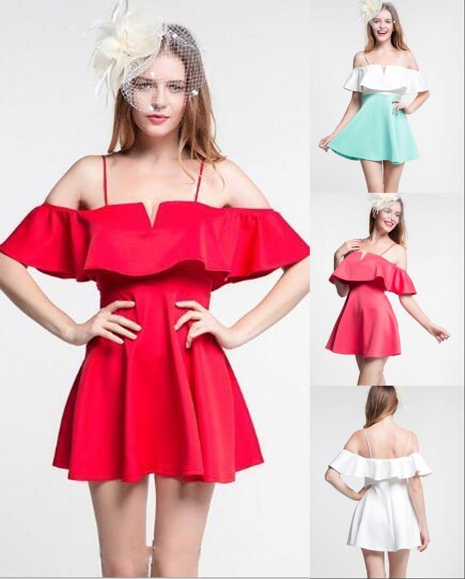 Günstige Rot Weiss Short Mini Homecoming Kleider 2017 Einfache ...