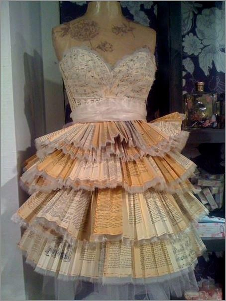 It's a dress made entirely out of Harry Potter books. Future wedding dress? I think yes.