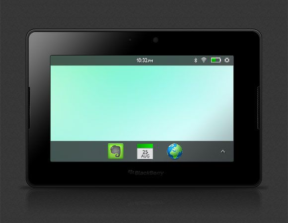 64gb Blackberry Playbook mockup