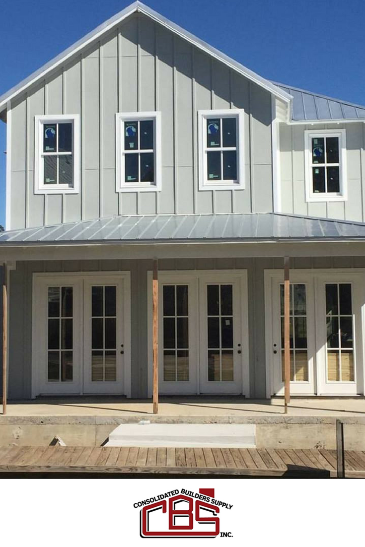 Modern Farmhouse Built By Distinctive Builders At Carlton Landing Featuring  Windsor Windows #doublehung #boardandbatten