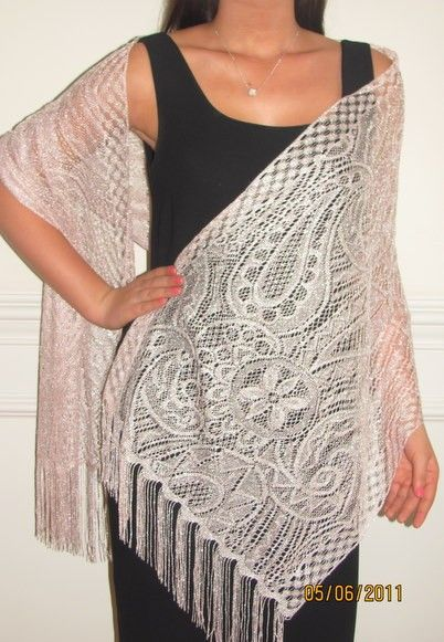 netted shawls for spring shawls and summer shawls are classy and affordable at YE. http://www.yourselegantly.com/dressy-evening-shawls/netted-lace-shawls.html