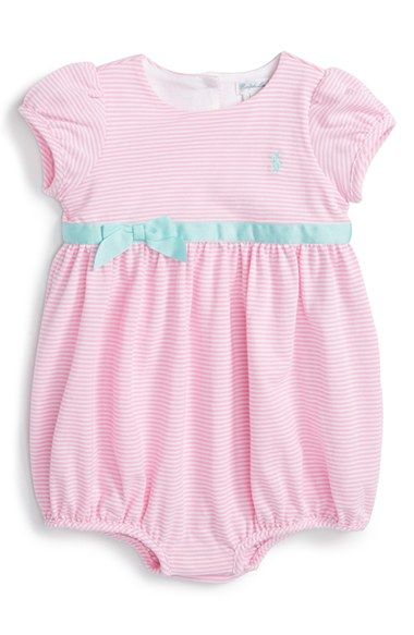 5e2d027d85 Ralph Lauren Short Sleeve Bubble Romper (Baby Girls) available at ...