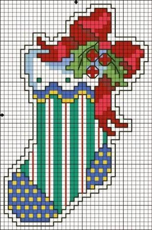 Resultado de imagem para santa claus cross stitch patterns free ...