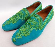 a442bebb7d67 Christian Louboutin suede embroidered Loafers Shoes UK7 EU41 US8- Great  Gift!