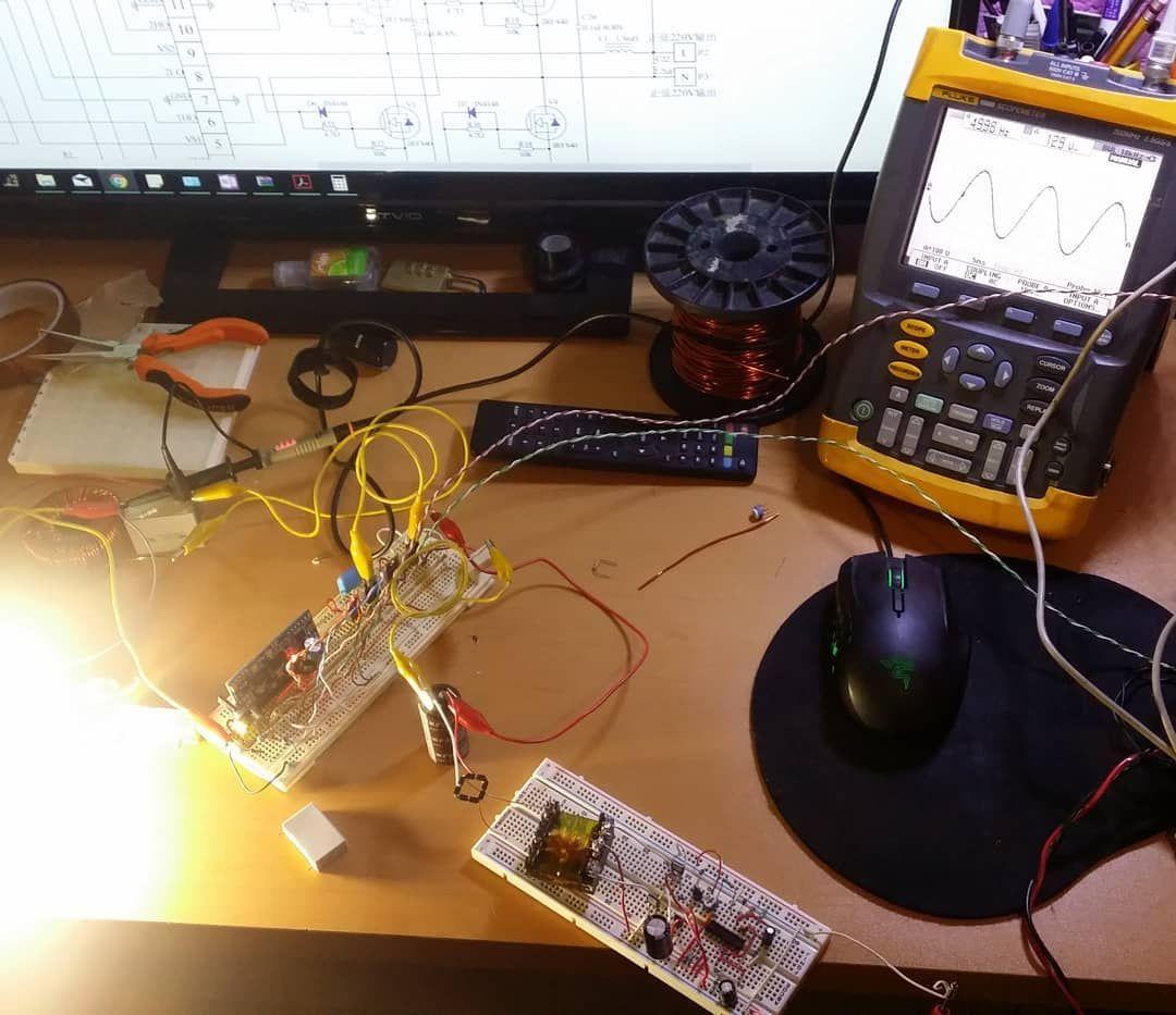 Pure Sine Wave Inverter 12vdc To 120vac 60hz Pcb 12 Vdc 120 Vac Circuit Arduino Design Electronics Engineering Oscilloscope Programming Arduinouno
