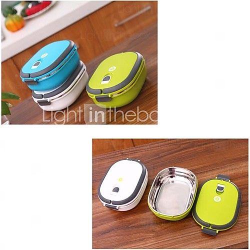 aço inoxidável caixa selada almoço isolamento térmico, cor random21x15x6.5cm | LightInTheBox