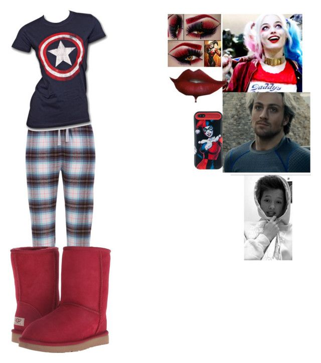 """Meeting the new Avenger"" by brie-bella-13 ❤ liked on Polyvore featuring UGG Australia, Quiksilver, Marvel, marvel, Quicksliver and TeamCaptainAmerica"