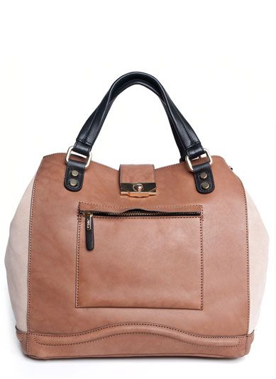 UTERQUE - Tote with contrast