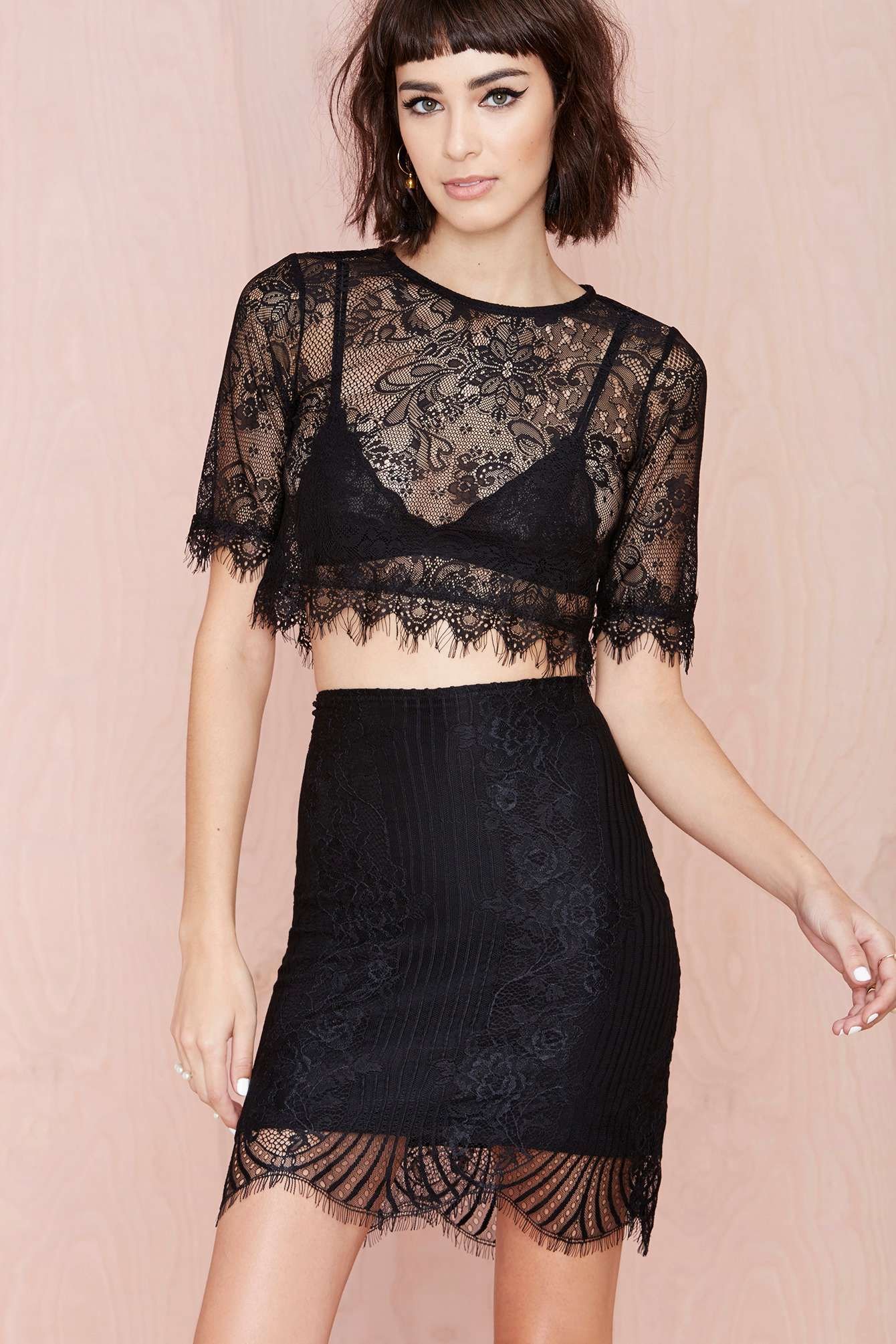 be0b68adcb1 For Love and Lemons Lolo Skirt | Thanks, It's New | Lace crop tops ...