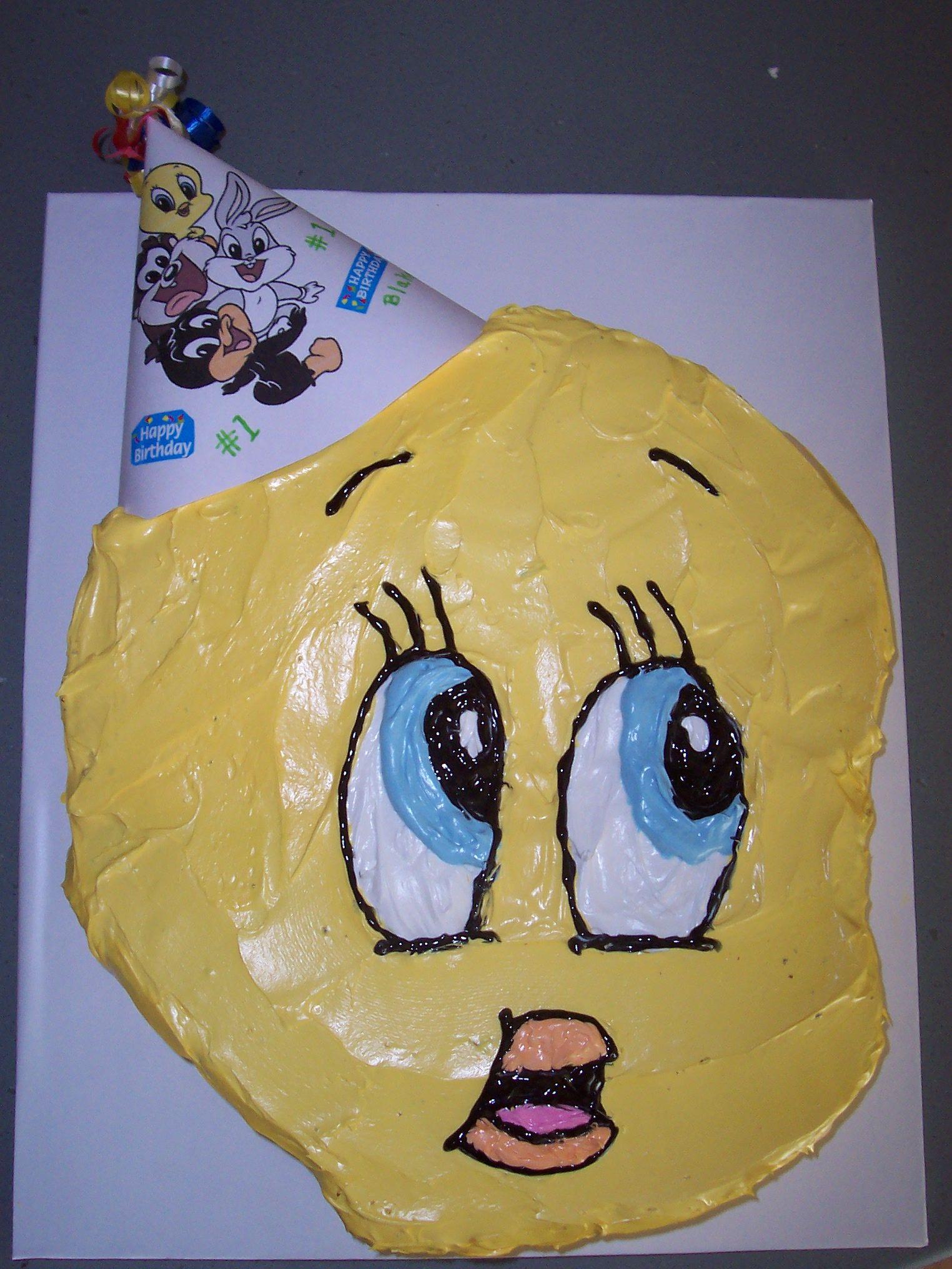 My 2nd son's 1st Birthday Cake! Baby Tweety
