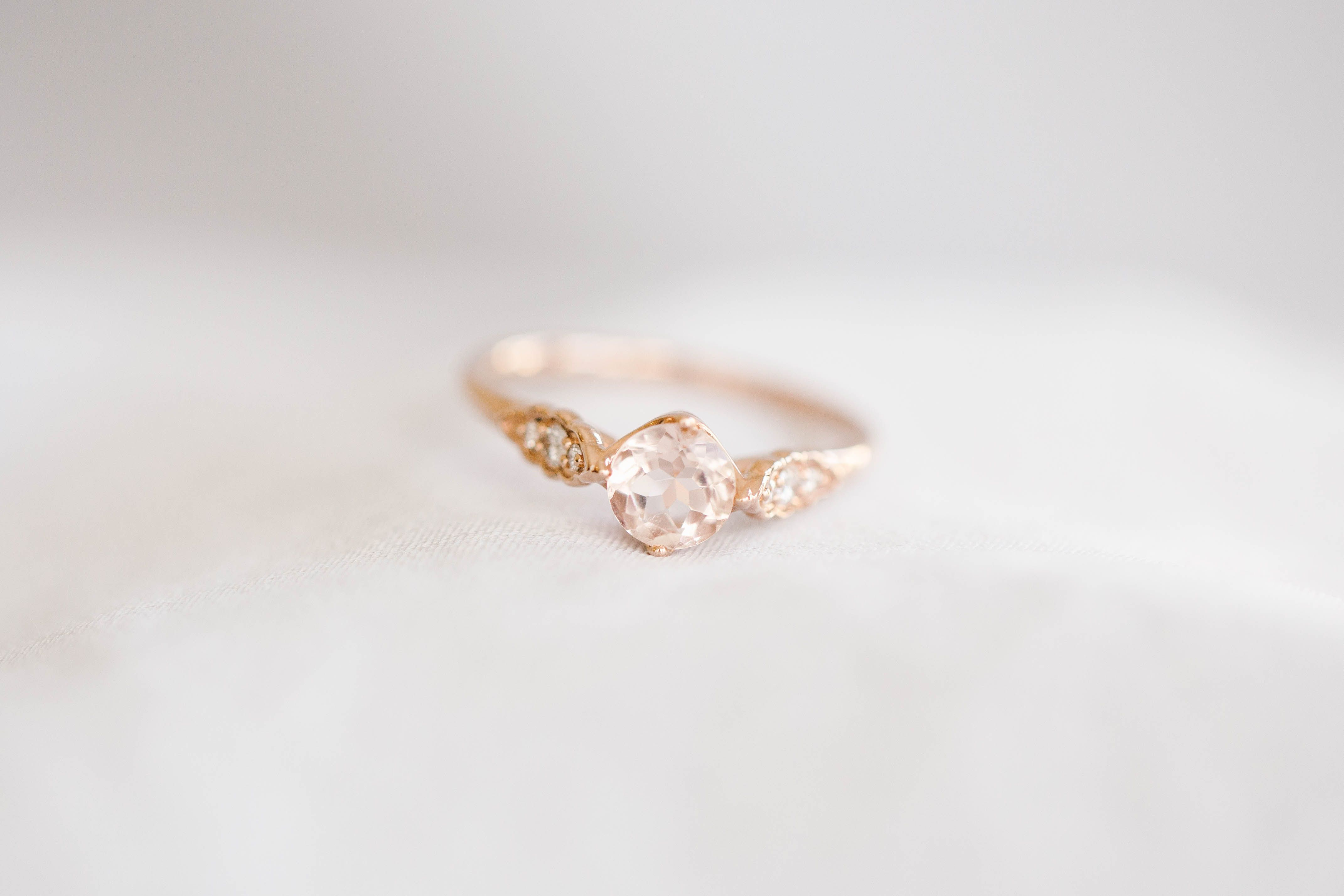Lc Lauren Conrad 10k Rose Gold Morganite 1 10 Carat T W Diamond Ring Rose Gold Morganite Gold And Silver Rings Morganite Diamond Ring