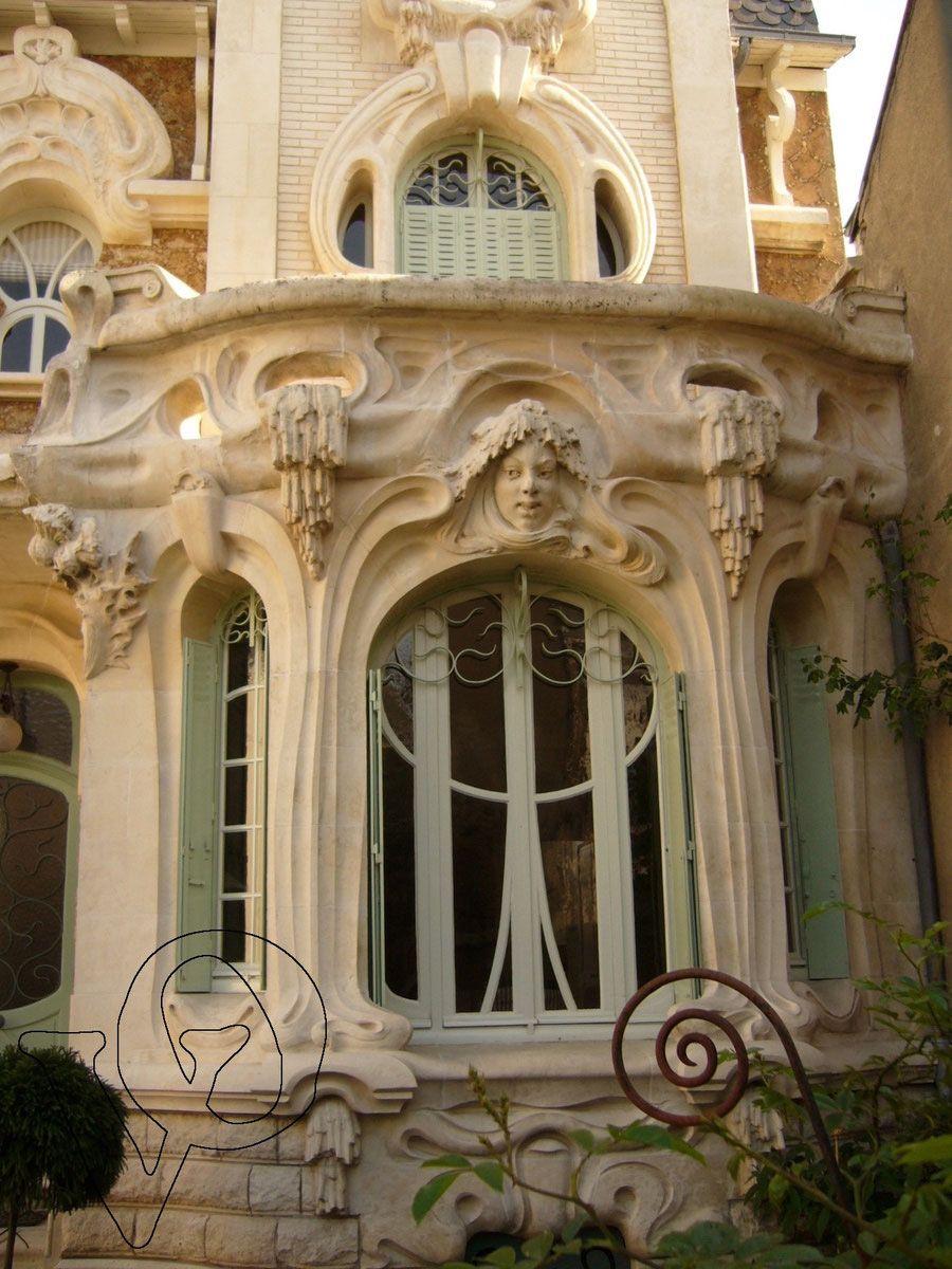 Art nouveau maison barillet orl ans fa ades et - Art deco and art nouveau ...