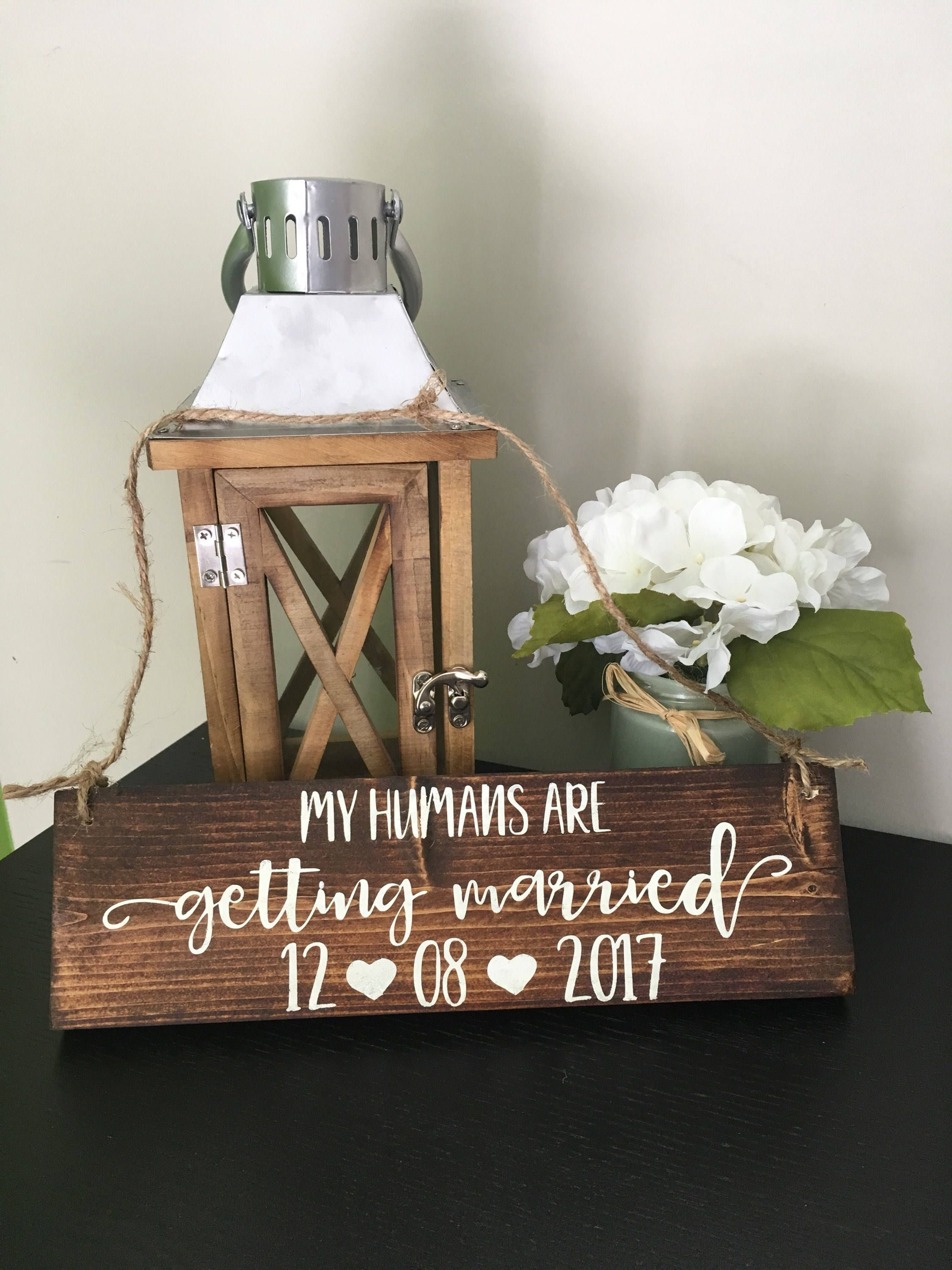 My Humans Are Getting Married Wedding Signs For Dogs Dog Puppy Sign Save The Date