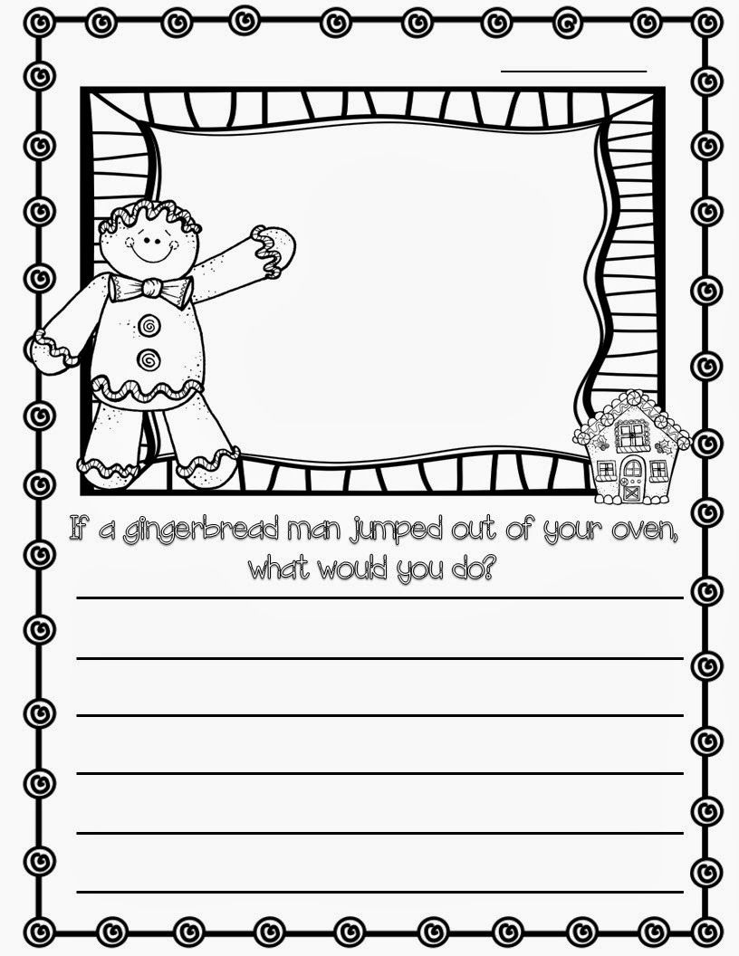 Gingerbread man writing prompt Gingerbread man writing