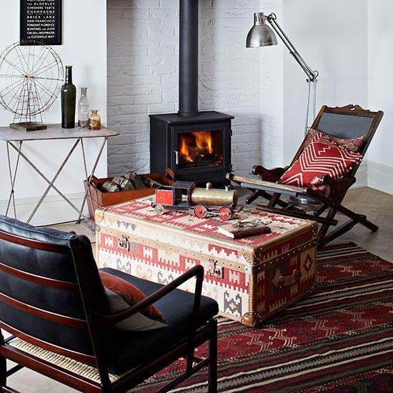 Alwinton Corner Sofa Handmade Fabric Moroccan PrintEthnic Living RoomLiving RoomsInterior Design