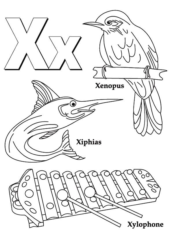 Top 10 Letter X Coloring Pages Your Toddler Will Love To Learn