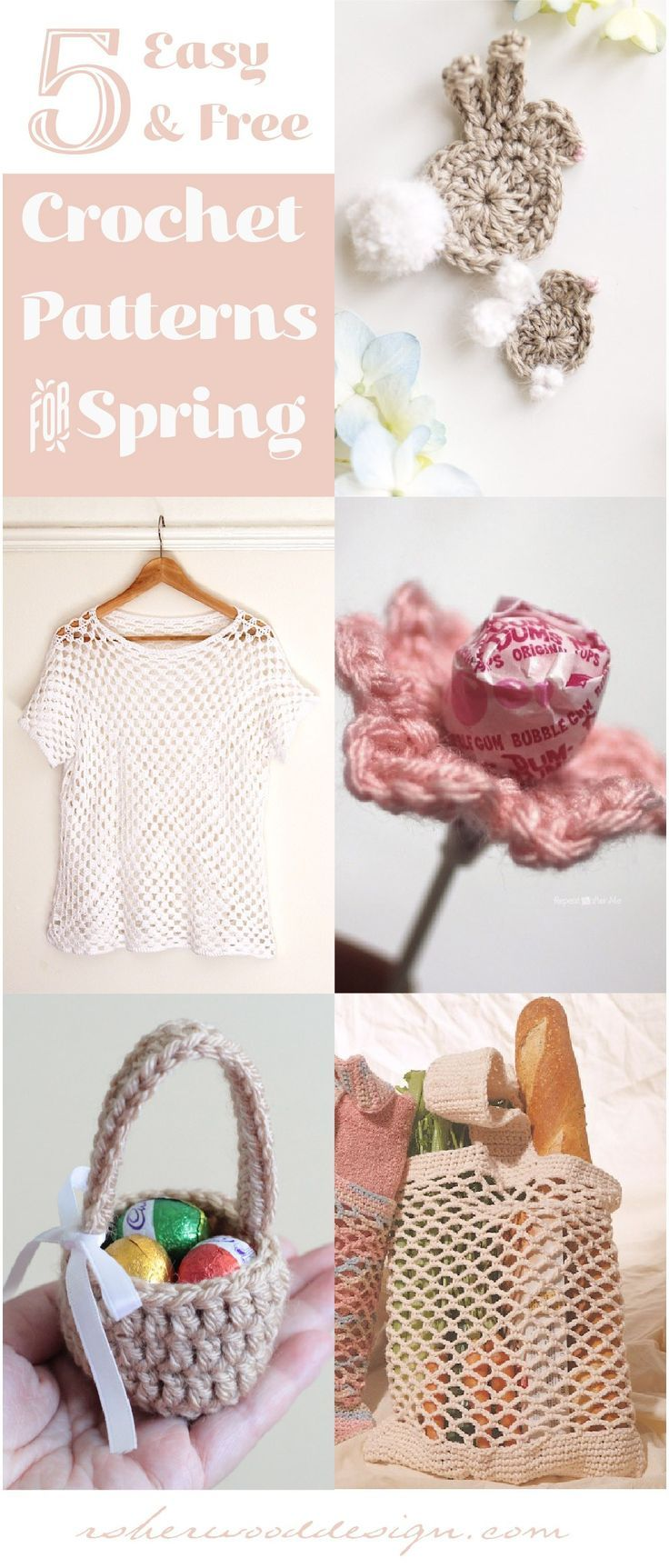 5 Free & Easy Crochet Projects for Spring - Spring Crochet Ideas for ...