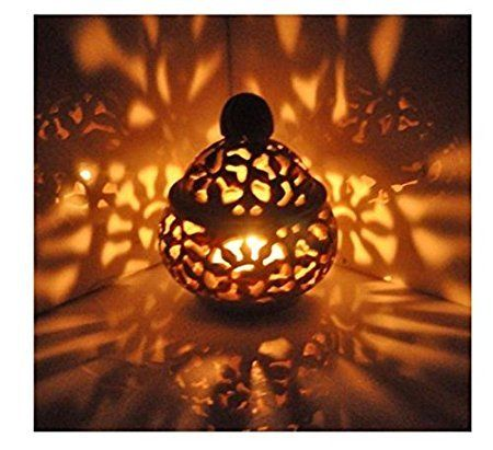 Buy Marble Decorative Soft Stone Light Lamp T Light Showpiece Gift