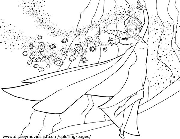 elsa frozen coloring page coloriage ilanna Pinterest Elsa