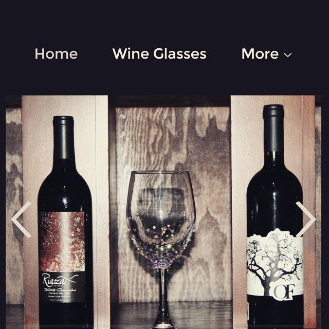 Sparkly wine glass