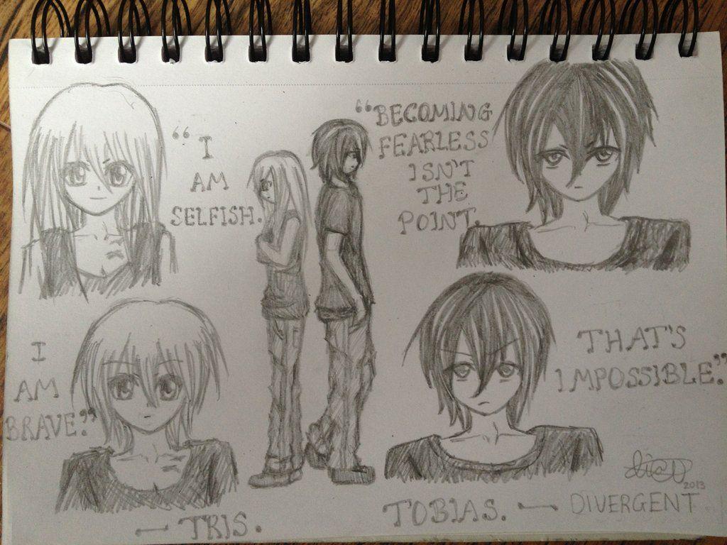 Divergent Tris And Four Drawings Tris prior div