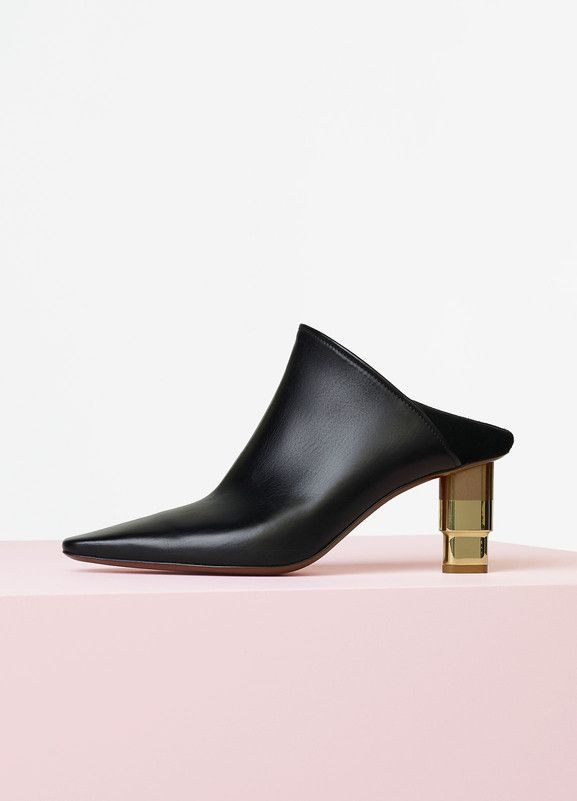 Candle Heel Mule in Calfskin and Lambskin - Céline   Shoes ... 5f6eebf974db