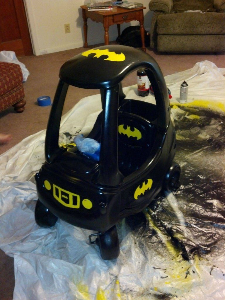 Turn Little Tykes Car into Batmobile Little tykes car