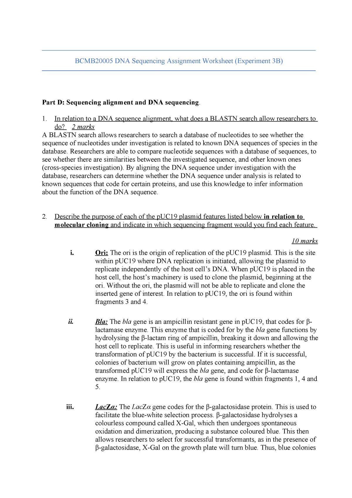 Memorable Dna Transcription And Translation Worksheet