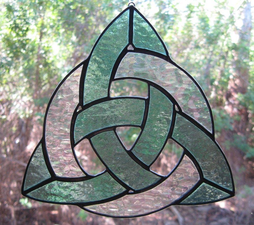 Irish Celtic Trinity Knot Stained Glass Suncatcher | Holy ...