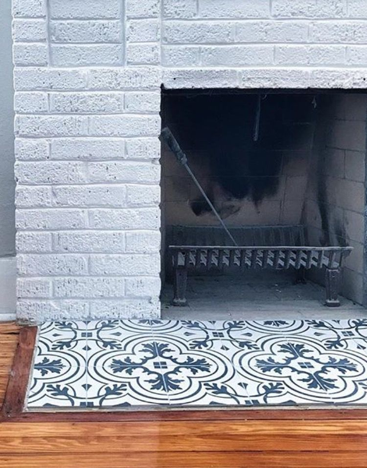 Tile Option For Fireplace Hearth Bungalow Craftsman Fireplace Hearth Tiles Fireplace Hearth Hearth Tiles