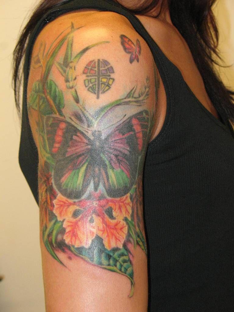 Flower butterfly tattoos uaua to see tattoos uc pinterest tattoo