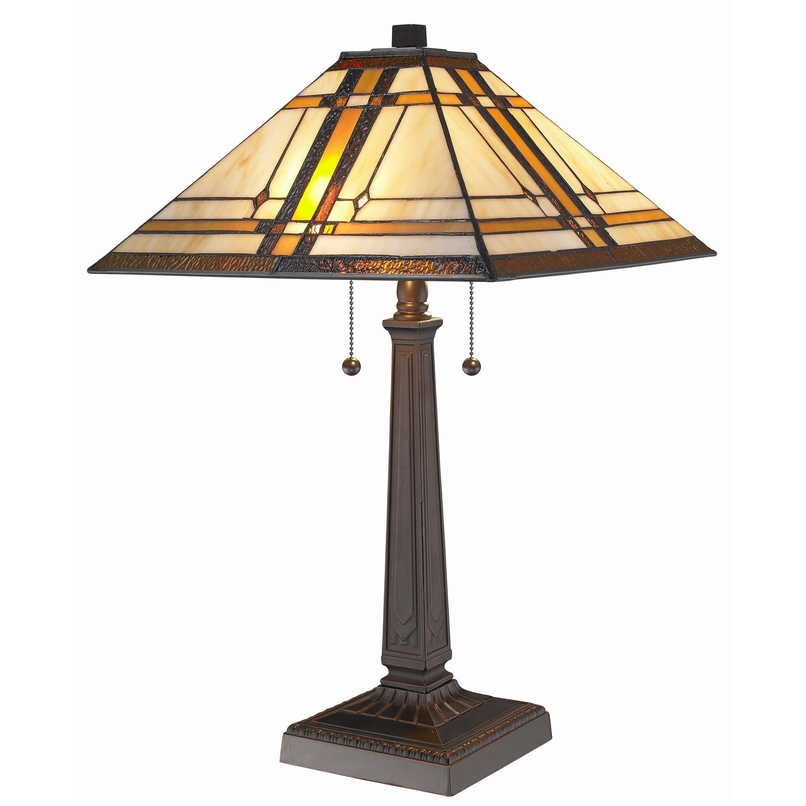 3d7dd5764bf7 Amora Lighting Tiffany Style Mission Table Lamp