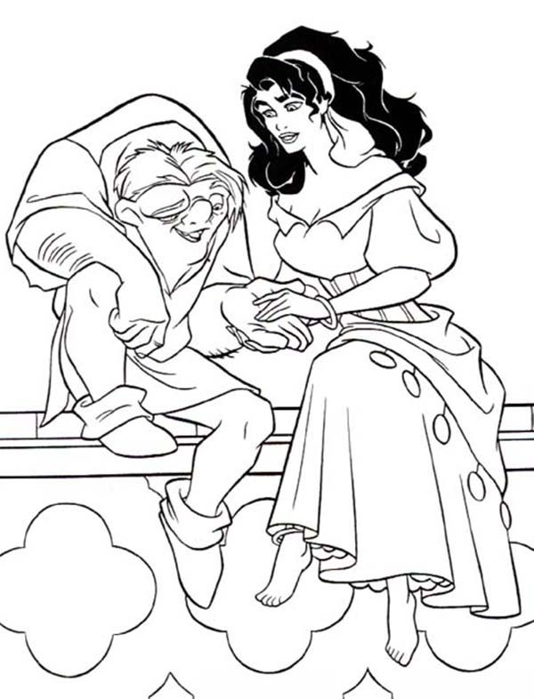 - Quasimodo-Holding-Esmeralda-Hand-in-The-Hunchback-of-Notre-Dame-Coloring-Page.jpg  (600×786) Disney Coloring Pages, Stitch Coloring Pages, Disney Colors